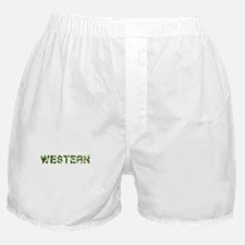 Western, Vintage Camo, Boxer Shorts