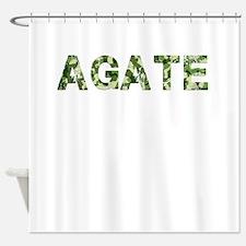 Agate, Vintage Camo, Shower Curtain