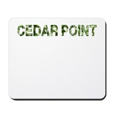 Cedar Point, Vintage Camo, Mousepad