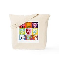 Pop Art Pit Bulls Tote Bag