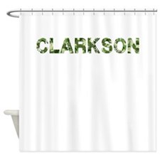 Clarkson, Vintage Camo, Shower Curtain