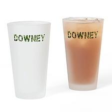 Downey, Vintage Camo, Drinking Glass