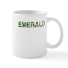 Emerald, Vintage Camo, Small Mug