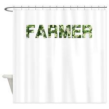 Farmer, Vintage Camo, Shower Curtain