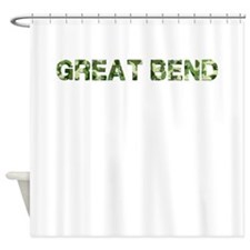 Great Bend, Vintage Camo, Shower Curtain
