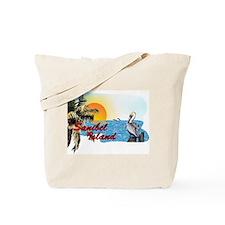 Sanibel Pelican Sunset Tote Bag