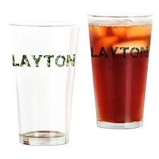 Layton, Vintage Camo, Drinking Glass