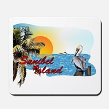 Sanibel Sunset with Pelican Mousepad