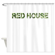 Red House, Vintage Camo, Shower Curtain