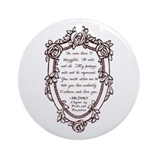 Mr Darcys Proposal Ornament (Round)