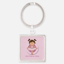 personalized ballet Square Keychain