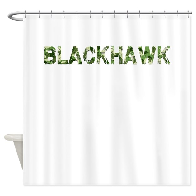 Blackhawks shower curtain