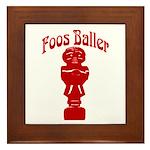 Foos Baller Framed Tile