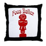 Foos Baller Throw Pillow
