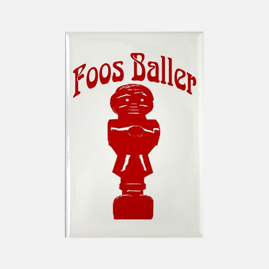 Foos Baller Rectangle Magnet