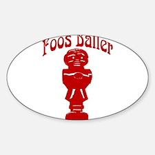 Foos Baller Oval Decal