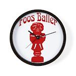Foos Baller Wall Clock