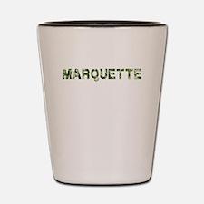 Marquette, Vintage Camo, Shot Glass