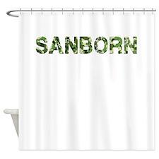 Sanborn, Vintage Camo, Shower Curtain
