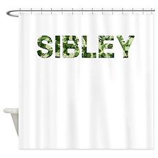 Sibley, Vintage Camo, Shower Curtain