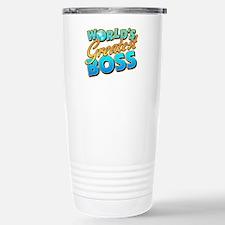 Cute World%27s best boss Travel Mug