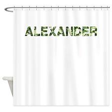 Alexander, Vintage Camo, Shower Curtain