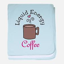 Heart Coffee baby blanket