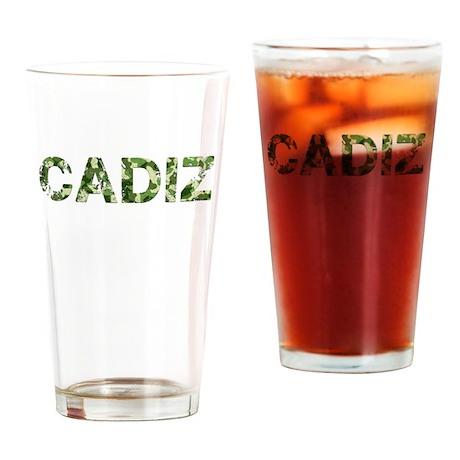 Cadiz, Vintage Camo, Drinking Glass
