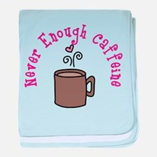 Never Enough Caffeine baby blanket