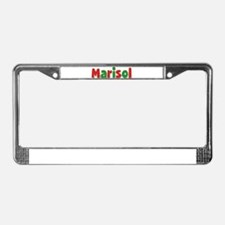 Marisol Christmas License Plate Frame