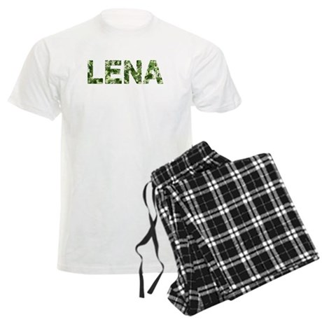 Lena, Vintage Camo, Men's Light Pajamas