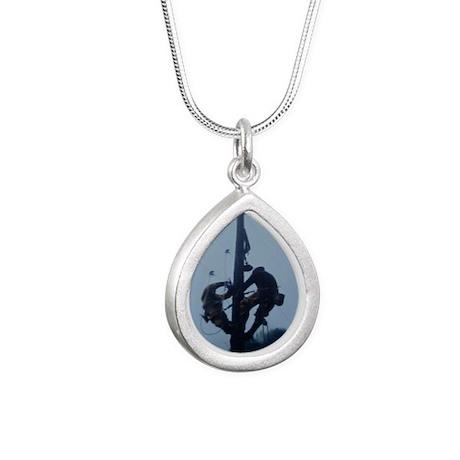 Lineman Silver Teardrop Necklace