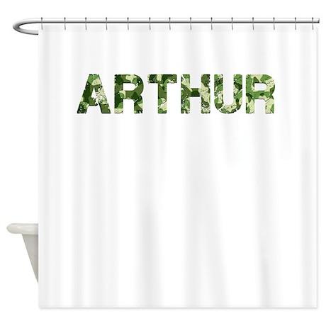 Arthur, Vintage Camo, Shower Curtain