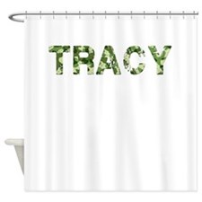 Tracy, Vintage Camo, Shower Curtain