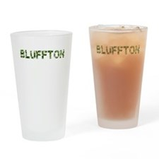 Bluffton, Vintage Camo, Drinking Glass