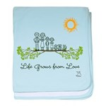 Life Grows from Love (Family) baby blanket