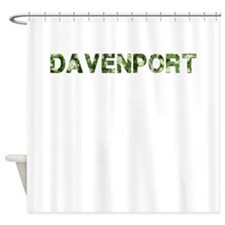 Davenport, Vintage Camo, Shower Curtain