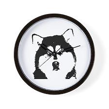 Dignified Alaskan malamute Wall Clock