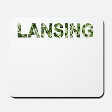Lansing, Vintage Camo, Mousepad