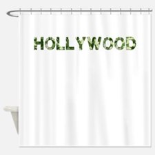 Hollywood, Vintage Camo, Shower Curtain