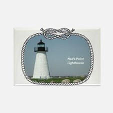 Ned's Point Lighthouse Rectangle Magnet