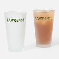 Lawrence, Vintage Camo, Drinking Glass