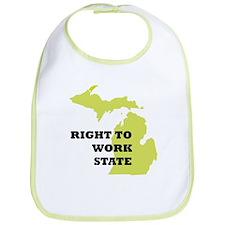 Right To Work State Michigan Bib