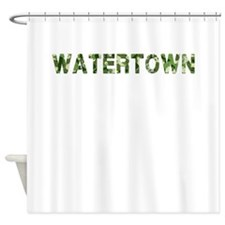 Watertown, Vintage Camo, Shower Curtain