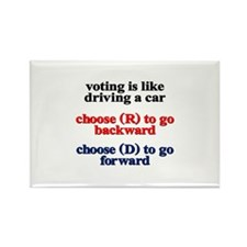 Voting Is Like Driving A Car Magnets