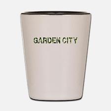 Garden City, Vintage Camo, Shot Glass
