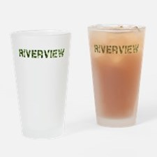 Riverview, Vintage Camo, Drinking Glass