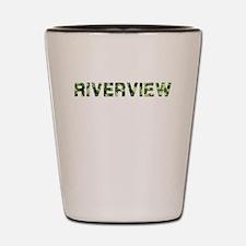 Riverview, Vintage Camo, Shot Glass