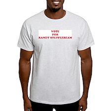 VOTE FOR RANDY STUFFLEBEAM  Ash Grey T-Shirt