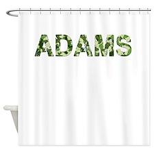 Adams, Vintage Camo, Shower Curtain